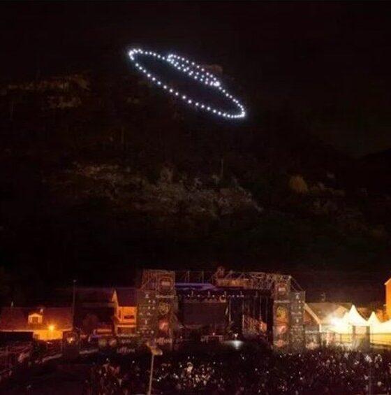 sciame di droni per Giffoni film festival